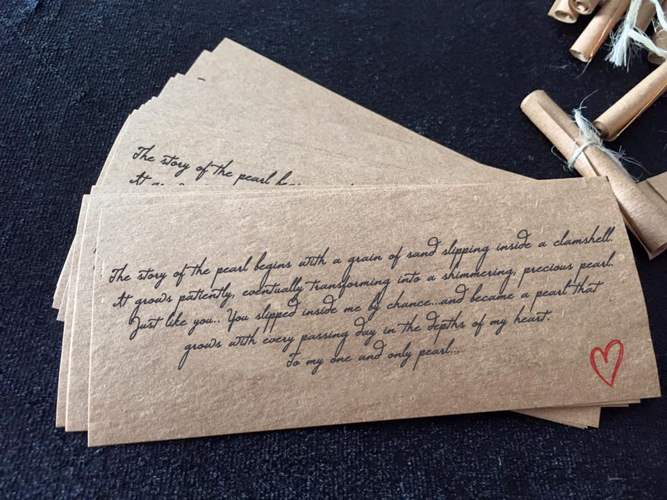 GIFT NOTE WITH BOTTLE